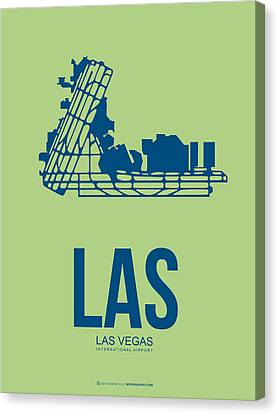 Las Las Vegas Airport Poster 2 Canvas Print by Naxart Studio