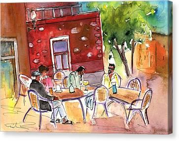 Las Palmas De Gran Canaria Cafe Canvas Print by Miki De Goodaboom