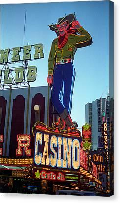 Las Vegas Downtown 1 Canvas Print by Frank Romeo