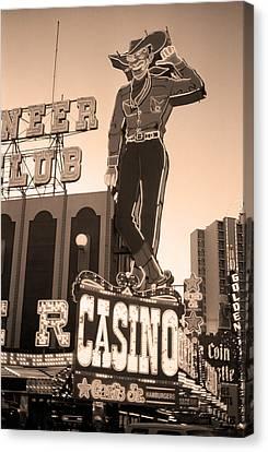 Las Vegas Downtown 4 Canvas Print by Frank Romeo