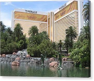 Las Vegas - Mirage Casino - 12122 Canvas Print by DC Photographer