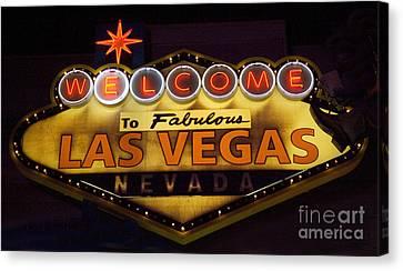 Las Vegas Neon 11 Canvas Print by Bob Christopher