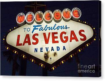 Welcome To Fabulous Las Vegas Nevada Sign  Canvas Print by Bob Christopher