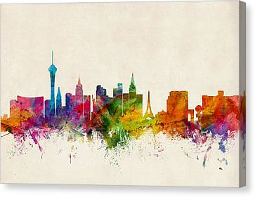 Las Vegas Nevada Skyline Canvas Print by Michael Tompsett