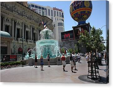 Las Vegas - Paris Casino - 121217 Canvas Print by DC Photographer