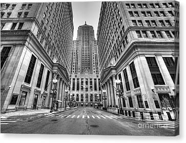 Lasalle Street Canvas Print by Twenty Two North Photography