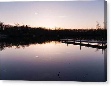 Last Light At Cleveland Pond Canvas Print by Lee Costa