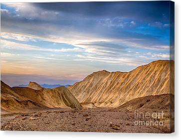 Last Light In Twenty Mule Team Canyon Canvas Print by Mimi Ditchie