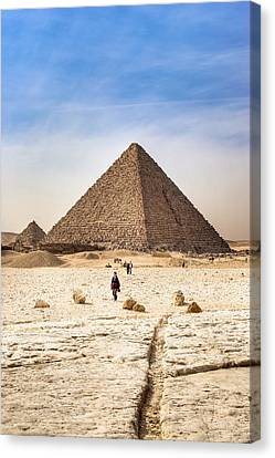 Last Of The Great Pyramids In Egypt Canvas Print by Mark E Tisdale