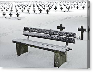 Last Resting Place Of Snowflakes Canvas Print by Dirk Ercken