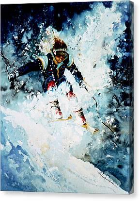 Last Run Canvas Print by Hanne Lore Koehler