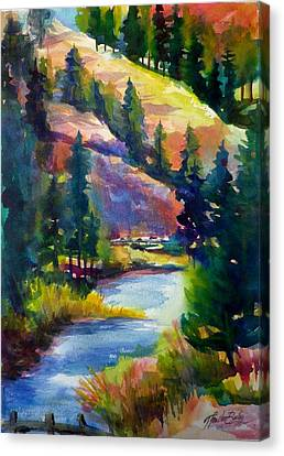 Last View Of The Truckee  Original Sold Canvas Print by Therese Fowler-Bailey