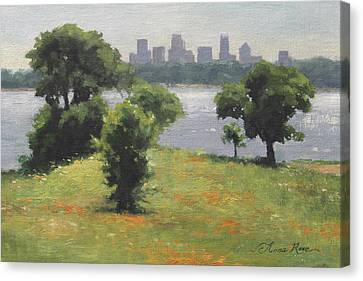 Late Afternoon At Winfrey Point Canvas Print by Anna Rose Bain