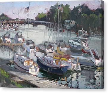 Late Afternoon By Tonawanda Harbor Canvas Print by Ylli Haruni