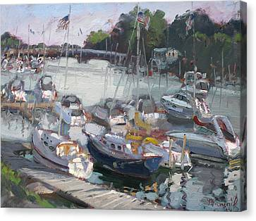 Late Afternoon By Tonawanda Harbor Canvas Print by Ylli Haruni