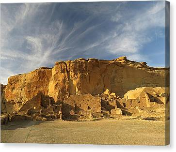 Late Afternoon In Pueblo Bonito Canvas Print by Feva  Fotos