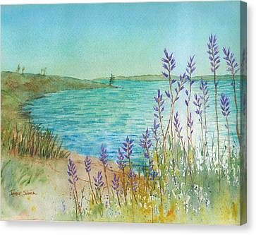 Late Afternoon Morro Bay Canvas Print by Janice Sobien