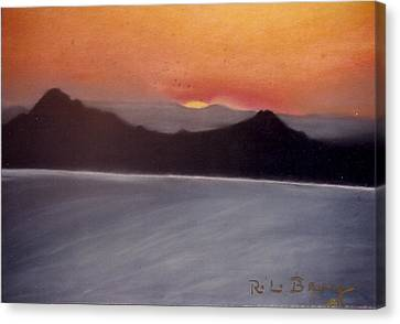 Late Sunset Canvas Print by Robert Bray