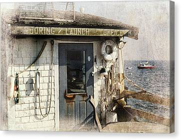 Launch Office Mcmillian Wharf Provincetown Canvas Print by Bill Wakeley