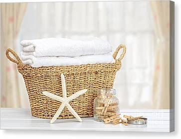 Laundry Basket Canvas Print by Amanda Elwell