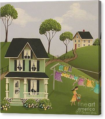 Laundry Day Canvas Print by Catherine Holman