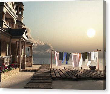 Laundry Day Canvas Print by Cynthia Decker