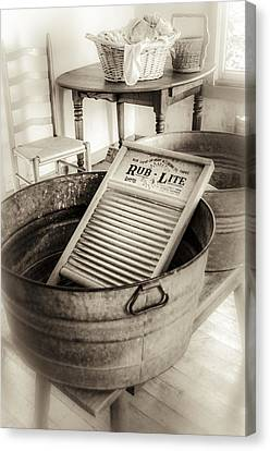 Laundry Day On The Farm Canvas Print by Julie Palencia
