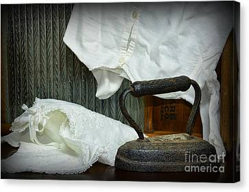 Laundry - Ironing Day Canvas Print by Paul Ward