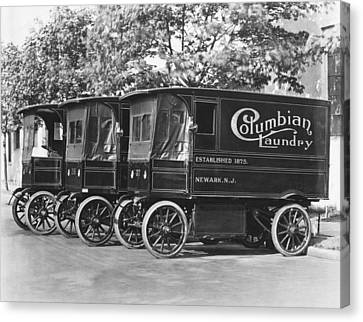 Laundry Trucks Canvas Print by Underwood Archives