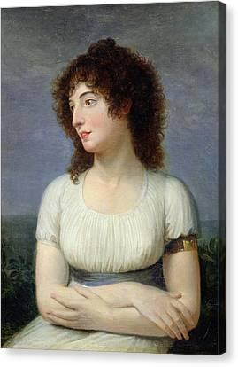 Laure De Guesnon De Bonneuil, Countess Regnaud De Saint-jean Dangely Oil On Canvas Canvas Print by Andrea the Elder Appiani
