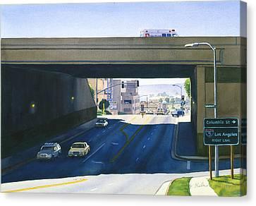 Laurel Street Bridge San Diego Canvas Print by Mary Helmreich