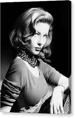 Lauren Bacall Canvas Print by Liam  York