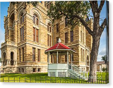 Lavaca County Courthouse II - Hallettsville Texas Canvas Print by Silvio Ligutti