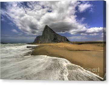 Lavante Over Gibraltar Canvas Print by English Landscapes