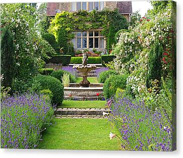 Lavender Country Garden Canvas Print by Gill Billington