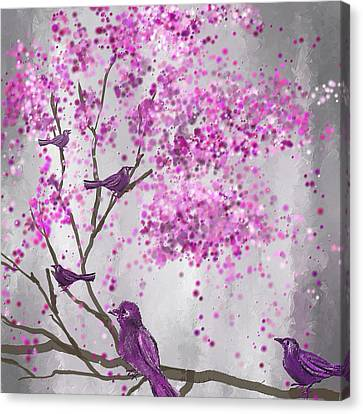 Lavender Leisure- Lavender Wall Art Canvas Print by Lourry Legarde
