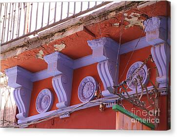 Lavender Moulding Guanajuato Canvas Print by Linda Queally