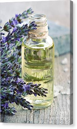 Lavender Oil Canvas Print by Mythja  Photography