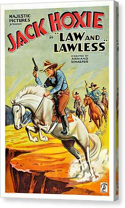 Law And The Lawless, Jack Hoxie Canvas Print by Everett