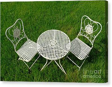 Lawn Furniture Canvas Print by Olivier Le Queinec