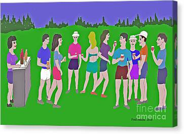 Lawn Party  Canvas Print by Fred Jinkins