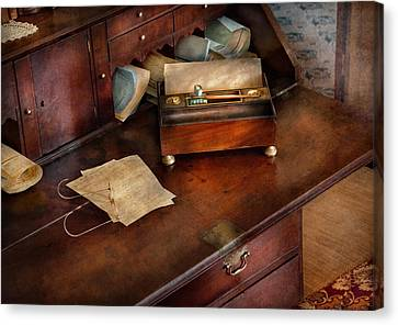 Lawyer - Important Documents  Canvas Print by Mike Savad