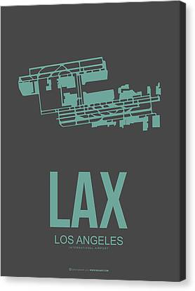 Lax Airport Poster 2 Canvas Print by Naxart Studio