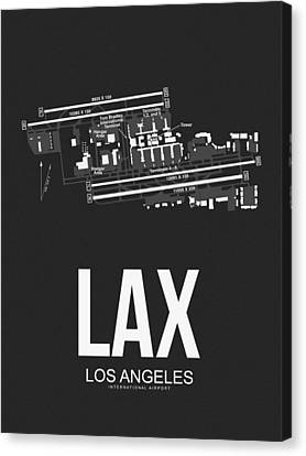 Lax Los Angeles Airport Poster 3 Canvas Print by Naxart Studio