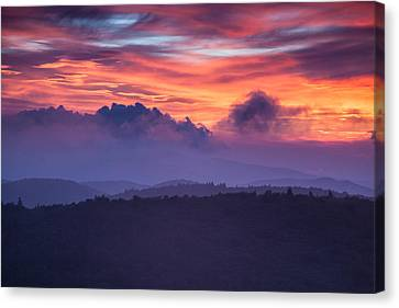 Layers Of Cloud And Land Canvas Print by Rob Travis