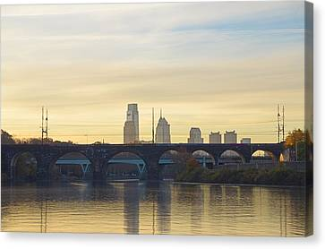 Lazy Autumn In Philadelphia Canvas Print by Bill Cannon