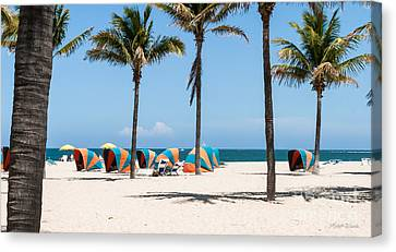 Lazy Day At Lago Mar Canvas Print by Michelle Wiarda