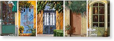 Le 5 Porte Canvas Print by Guido Borelli