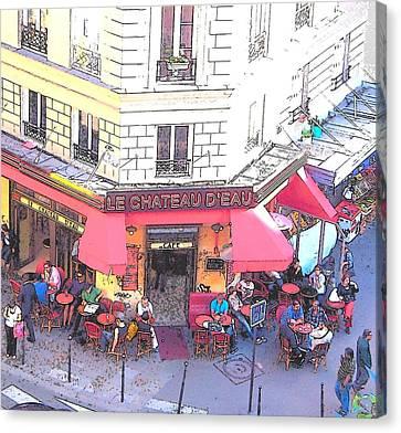 Le Chateau D'eau In Paris Canvas Print by Jan Matson