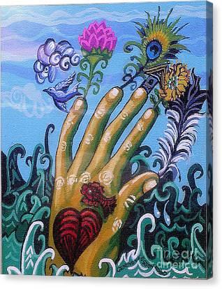 Le Destin Du Humain Canvas Print by Genevieve Esson